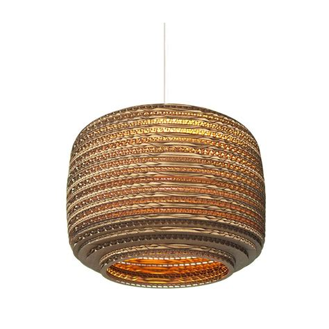 Recycled Pendant Lights Ceiling Pendant Light Made From Recycled Corrugated Cardboard