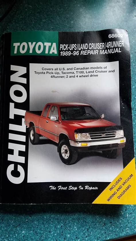 chilton 1989 1996 toyota pick ups land cruiser t100 and 4 runner repair manual northern auto parts 87 toyota pick up for sale classifieds