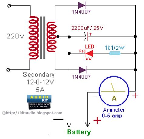 12v lead acid battery charger circuit diagram circuit
