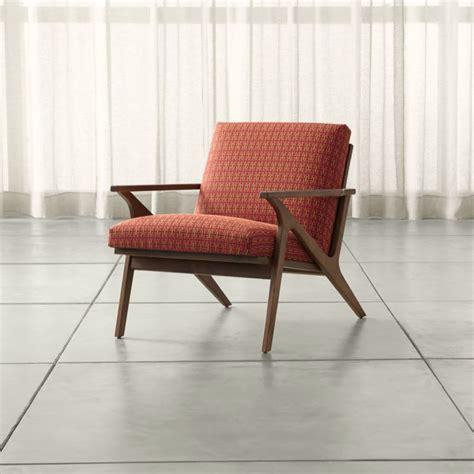 cavett mid century lounge chair crate  barrel