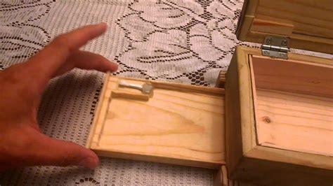 wooden box  secret compartment youtube