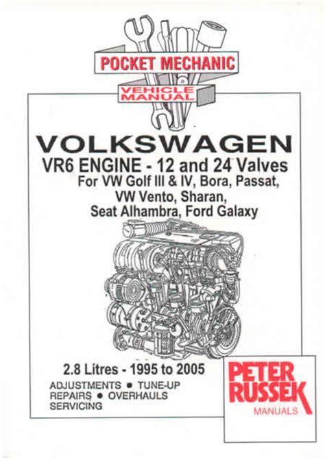 small engine repair manuals free download 1992 volkswagen cabriolet seat position control vw vr6 engines golf mk3 mk4 bora new workshop manual service repair ebay