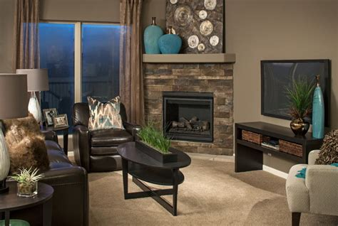 Model Home Family Room Pictures by Model Homes Living Room Omaha By D3