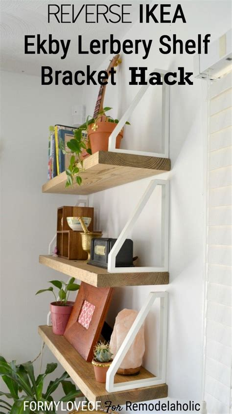ikea wall shelves hack diy wall shelf ikea ekby lerberg bracket hack
