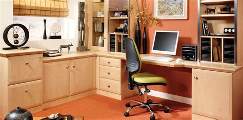fitted home office furniture alto beech modern home study furniture by strachan