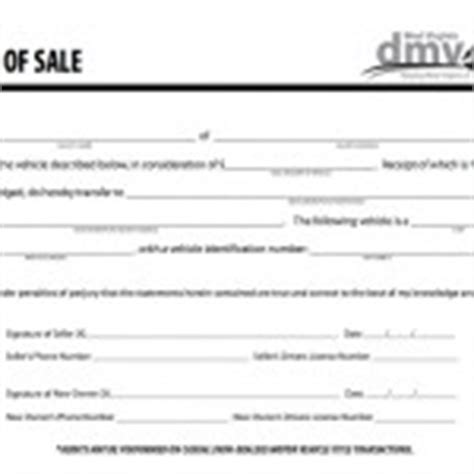 download west virginia bill of sale forms