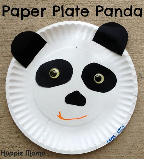 Panda Paper Plate Craft - crafts paper and animals on