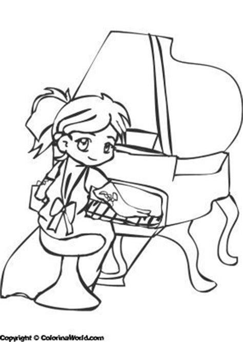 coloring page girl playing piano 29 best images about music colouring pages on pinterest