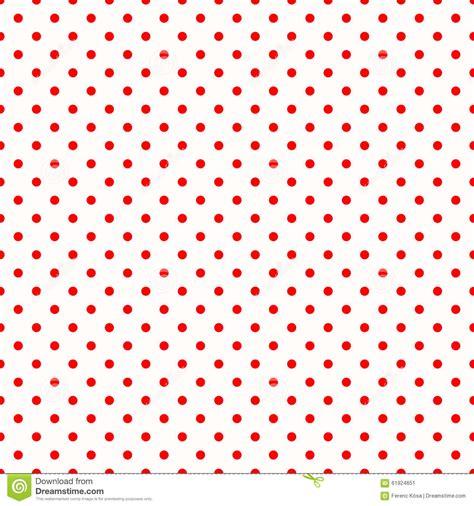 rossi bianco pois rossi sul modello bianco illustrazione di stock