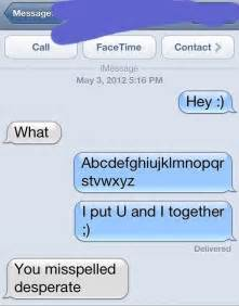 misspelled desperate funny text message
