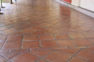 floor tile and decor saltillo floor tile in a diagonal pattern mexican home