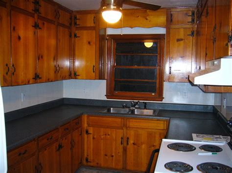 kitchen pine cabinets home improvements refference update knotty pine kitchen