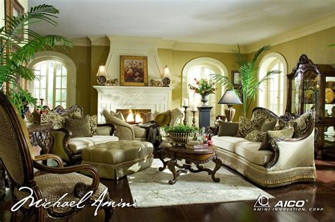 traditional formal living room michael amini chateau beauvais luxury traditional formal