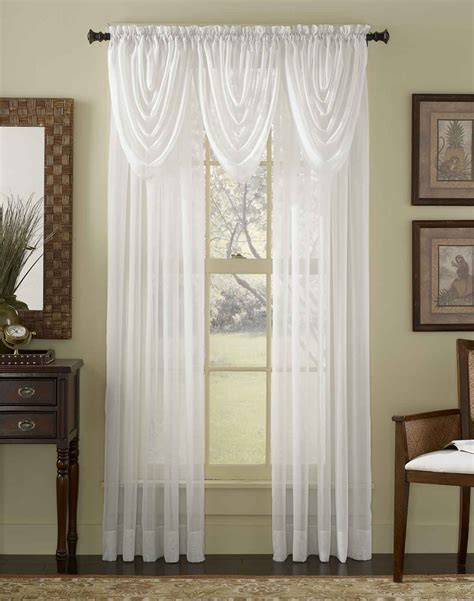 livingroom curtain noble handmade scarf over valance and white curtains with
