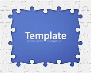 Puzzle Templates by Puzzle Frame Template Psdgraphics