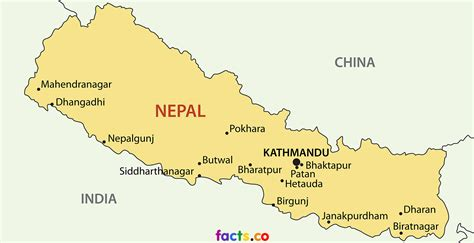 where is nepal on the map interesting facts about nepal map