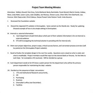 project meeting minutes template 9 download free
