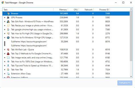 chrome high cpu usage how to fix google chrome high cpu usage windows 10