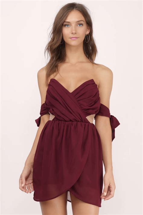 Dress Alaer Maroon Lg cheap burgundy wrap dress dress backless dress 13 00