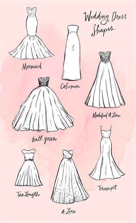 different shapes of wedding dresses best 25 dress shapes ideas on