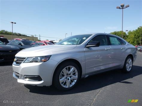 silver ls with white shades 2017 silver ice metallic chevrolet impala ls 115720645
