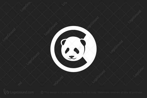 panda letter p logo