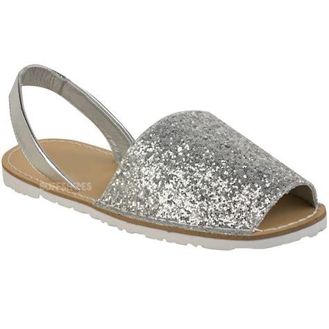 glitter sandals womens summer menorcan glitter sandals slingback