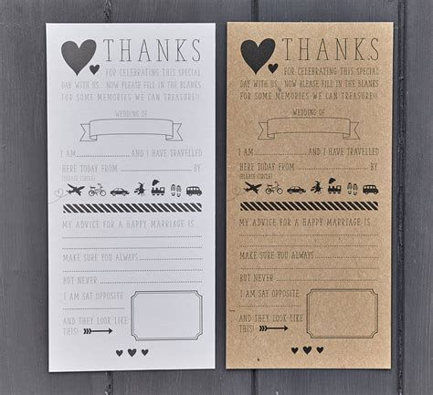 Wedding Advice Cards by Pack Of 25 Wedding Advice Cards By Papergrace