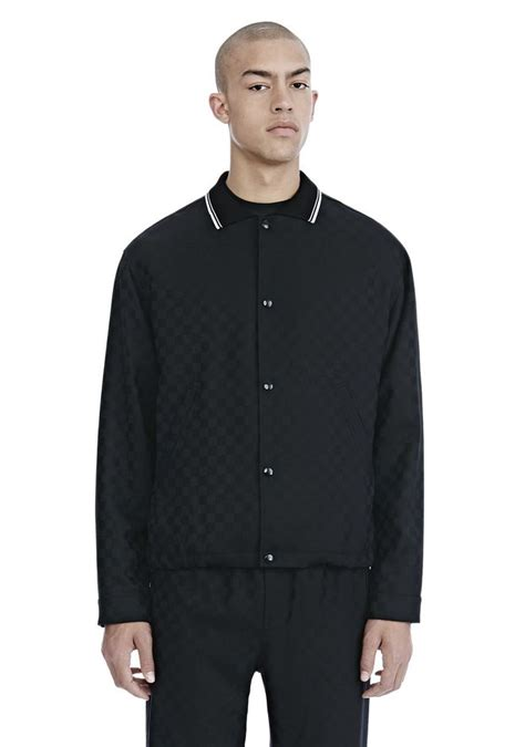 Checkerboard Coach Jacket wang checkerboard wool jacquard coach s jacket