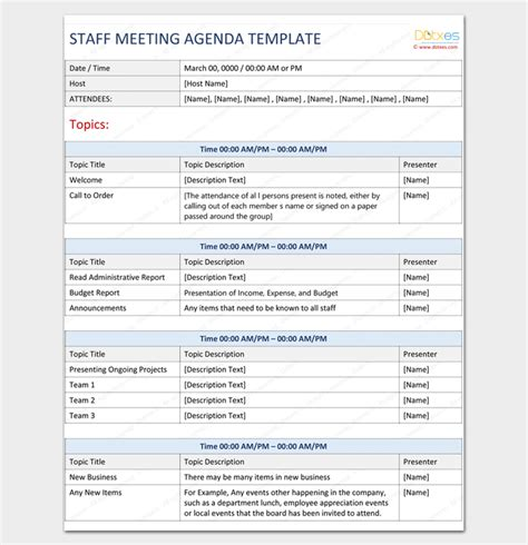 template conference outline template free meeting agenda word