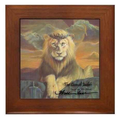 """The Lion of Judah"" Fine Art Framed Tile by christian art1"