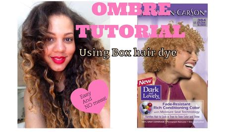 top seller box hair color ombre tutorial using box hair dye how to rescue dry and