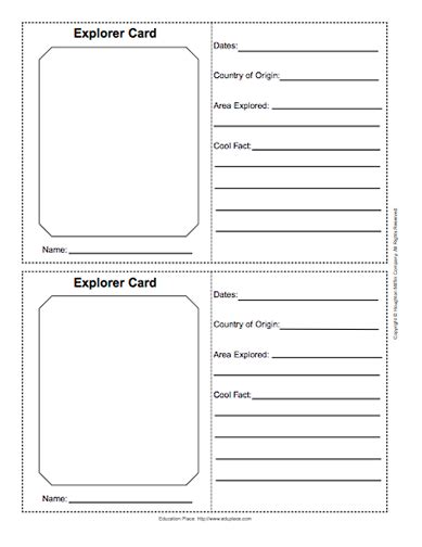 Make Your Own Trading Card Template by Create Your Own Explorers Journal Using These Templates