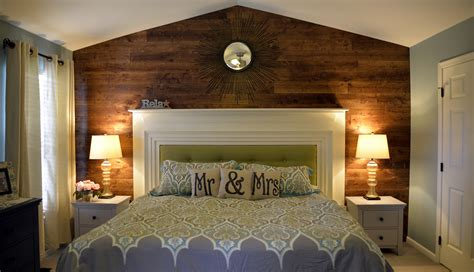 bedroom retreat master bedroom retreat wood accent wall upcycled mantel