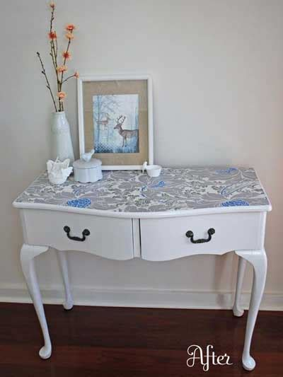 muebles decorados con chalk paint 25 fotos e ideas para decorar un mueble con papel pintado