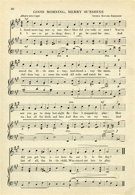 free old school house music downloads good morning merry sunshine free vintage sheet music graphic old design shop blog