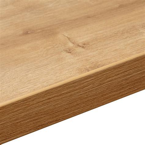 Work Top by 38mm Arlington Oak Laminate Soft Grain Wood Effect Square