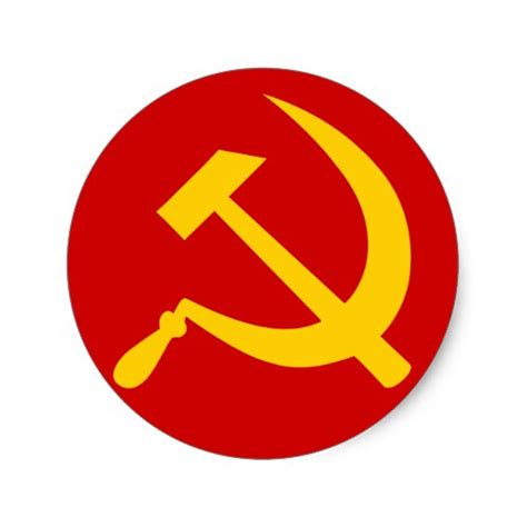 communist ussr russian hammer and sickle sticker zazzle