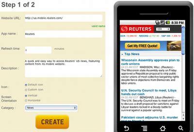 membuat website launcher android cara mudah membuat launcher android untuk website
