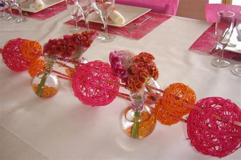Centre De Table Fushia by Centre De Table Bapt 234 Me Fuchsia Et Orange Cr 233 Ations
