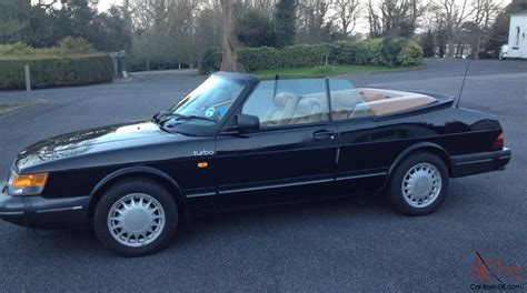 Saab 900 Turbo Convertible In Black Stunning Condition