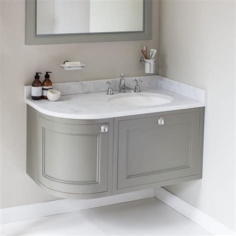 curved vanity unit bathroom burlington olive 1000mm right hand curved vanity unit