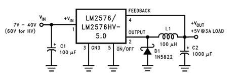 Lm2576hvt Lm2576 Adj step buck voltage regulators with lm2576 lm2576hv