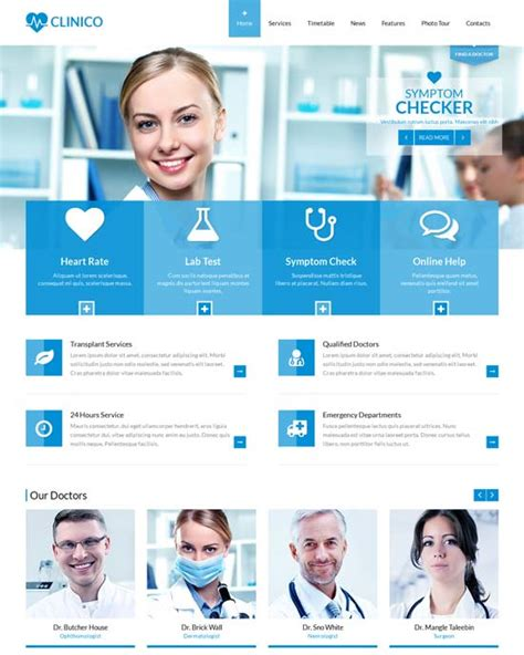 health templates 70 best health and website templates free