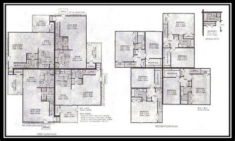4 plex apartment plans biulding plans for a four plex
