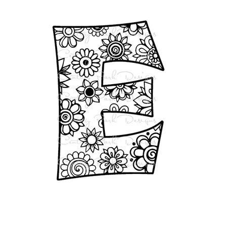 buscar imágenes sin copyright letter e alphabet flowers svg jpeg png pdf use with