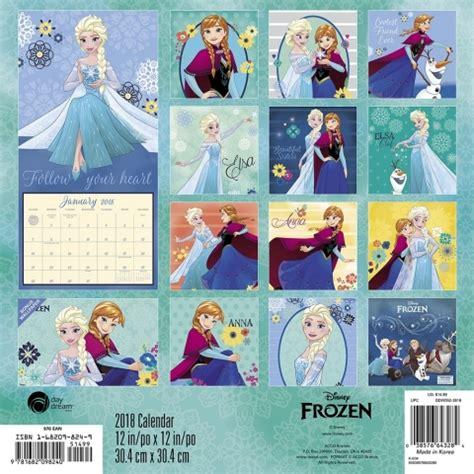 2018 disney princess wall calendar day disney frozen wall calendar 9781682098240 calendars