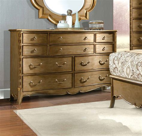 gold dresser homelegance chambord bedroom set chagne gold 1828