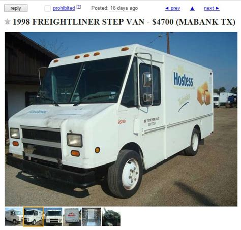 Craigslist Garage Sales San Antonio by A Retro Twinkie Truck Is Up For Sale On San Antonio S