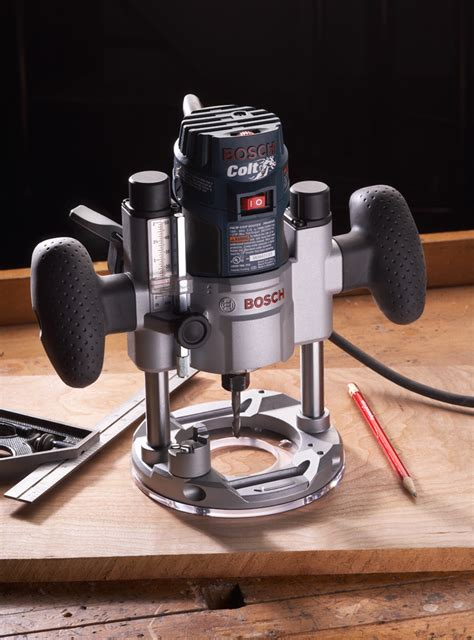 bosch routers woodworking bosch colt router plunge base tool test